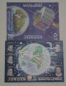 JORDAN SPACE  2 DIFF. SHEETLET   cat.$78.00 MINT NH