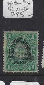 PERU   (PP0209B)  AFTER 78 1C UNLISTED  MOG