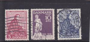 Denmark  Scott#  264-6  Used