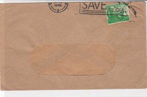 Ireland Eire 1946 Save Flour Slogan Organ Player Halfpence Stamp Cover Ref 34946