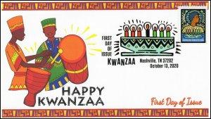 20-259, 2020, Kwanzaa, First Day Cover, Digital Color Postmark, Nashville TN