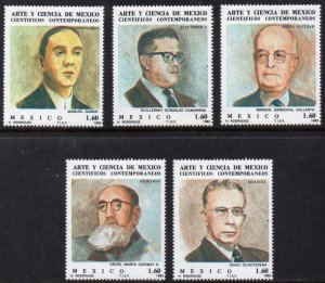 Mexico MNH 1293-7 Scientist 1982