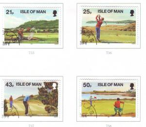Isle of Man Sc 752-5 1997 Golf stamp set used