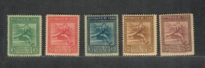 Cuba Sc#299-303 M/NH/F-VF, Cv. $50