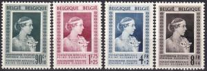 Belgium   #B498-9, B501-2  F-VF Unused CV $93.00  Z344