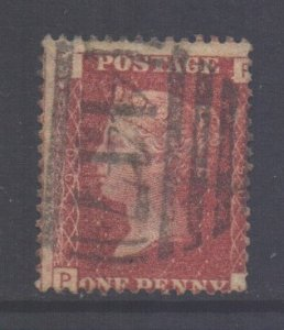 GB Scott 33 - SG43, 1858 Victoria 1d Plate 90 used