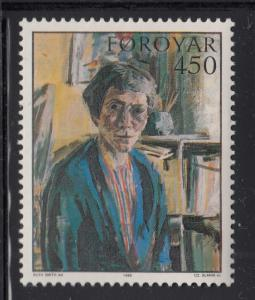 Faroe Islands Scott #128 MNH 450o Self-Portrait 1952 by Ruth Smith