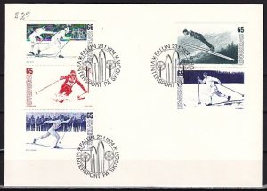 Sweden, Scott cat. 1031-1035. Skiing issue. First Day Cover. ^