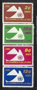 CUBA 668-9 C222-3 MOG UN J1030