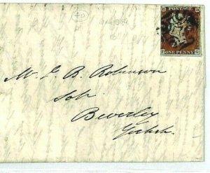 GB Cover MALTESE CROSS April 1844 *Manchester* MX Letter Beverley {samwells}CX86