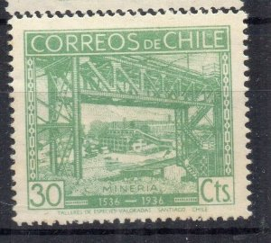Chile 1936 Anniversary Issue Mint hinged Shade of 30c. NW-12973