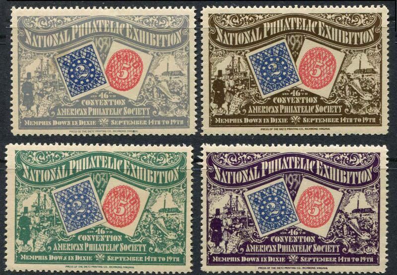 1931 APS National Philatelic Exhibition Confederate Provisionals Memphis TN (6r)