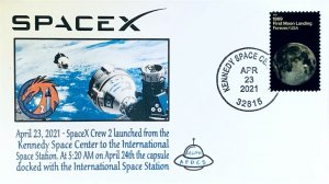 AFDCS SpaceX Crew #2 Launched from Kennedy Space Center FL 4-244-21 0520 Docked