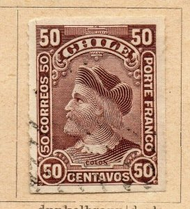 Chile 1900 Early Issue Fine Used 50c. NW-09277
