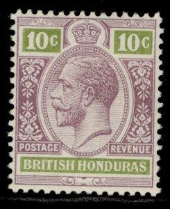 BRITISH HONDURAS GV SG105, 10c dull purple & yellow-green, M MINT.