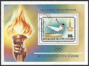 Ivory Coast #527 CTO (Used) Souvenir Sheet