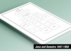 PRINTED JAVA AND SUMATRA 1947-1950 STAMP ALBUM PAGES (47 pages)