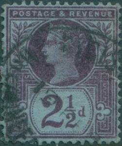 Great Britain 1887 SG201 2½d purple/blue QV FU