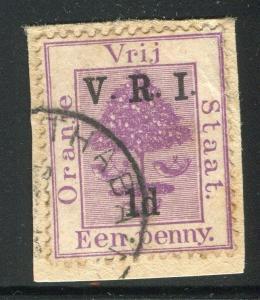 ORANGE FREE STATE;   1900 V.R.I. surcharged value 1/1d.  + VARIETY
