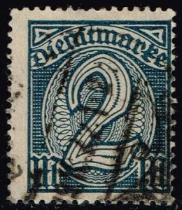 Germany #O12 Official - Numeral; CTO (4.00)