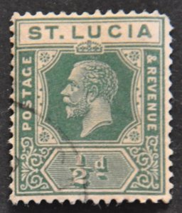 DYNAMITE Stamps: St. Lucia Scott #76 – USED