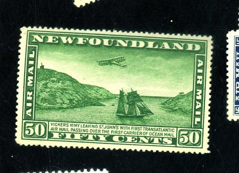 NEWFOUNDLAND #C7 MINT FVF OG LH Cat $35