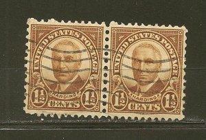 USA 684 Harding Pair Used