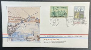 US #2346 FDC + #C35 - Bicentennial of Constitution 1787-1987 [BIC60]