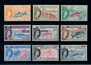 [99669] Turks & Caicos Isl. 1957 Marine Life Fish Lobster Fishing From set MNH