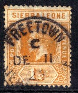 Sierra leone 1912 - 21 KGV 1 1/2d Orange used SG 114  ( M1161 )