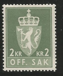 NORWAY O81  HINGED,  OAT OF ARMS