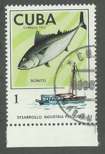 1975 Cuba Scott Catalog Number 1955 Used
