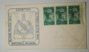OPS Exhibition Victory Bartesville OK Philatelic Convention Cachet Cover 1945