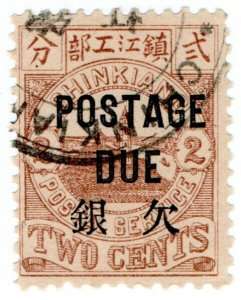 (I.B) China Local Post : Chinkiang 2c (postage due)
