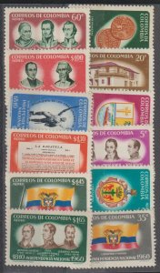 Colombia SC 719-21, C377-85   Mint Never Hinged