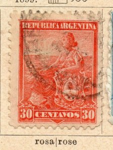 Argentina 1899 Early Issue Fine Used 30c. NW-11763
