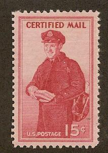 FA1 Unused, 15c. Certified Mail, XF-Superb
