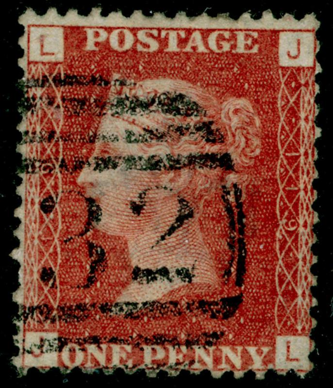 SG43, 1d rose-red plate 119, FINE USED. JL