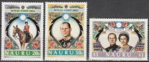 Nauru #257-9  MNH F-VF  (V3649)