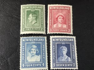 NEW FOUNDLAND # 245-248-MINT/HINGED----COMPLETE SET----1938