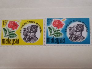 MALAYSIA 1967 MALAYSIA 100th ANN OF INDEPENDENCE IN FINE  MINT CONDITION