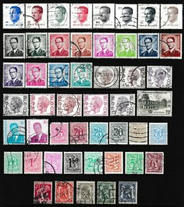 50 Different F-VF Used Belgium Stamps - I Combine S/H