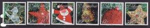 Gibraltar-Sc#999-1004-unused NH set-Christmas-Tree Ornaments-2004-