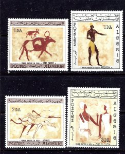 Algeria 344-47 MNH 1966 Wall Paintings    #1