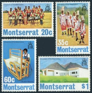 Montserrat 302-305,305a,MNH.Mi 301-304,Bl.4. University of West Indies,1974.