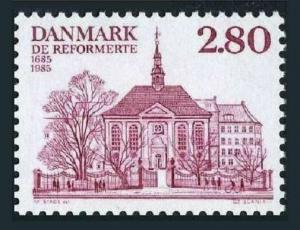 Denmark 769,MNH.Michel 828. German,French Reform Church-300th Ann.1985.