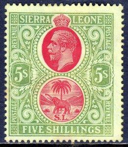 Sierra Leone - Scott #117 - MH - SCV $15.00
