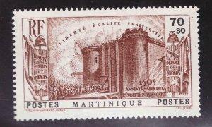 Martinique Scott  B4 MH* 1938 Revolution semi postal stamp