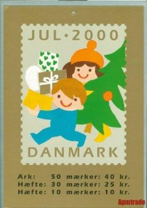 Denmark. Christmas Seal. 2000. 1 Post Office,Display,Advertising Sign. Boat