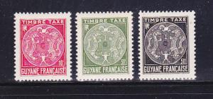 French Guiana J22-J24 MHR Postage Due Stamps